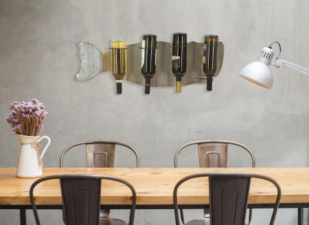 Suport de perete pentru sticle de vin BALENA, 80X12.5X25 cm, Mauro Ferretti8