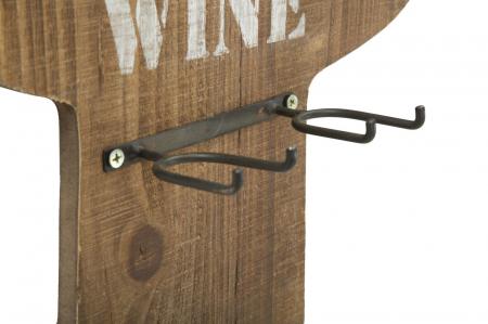 Suport de perete pentru sticle de vin CACTUS, 40X9.5X58 cm, Mauro Ferretti8