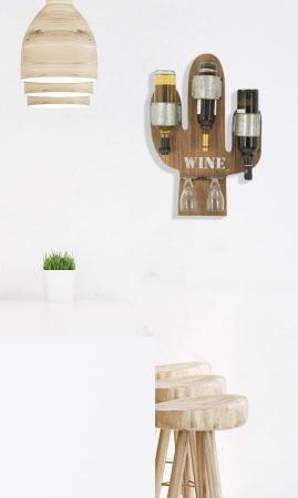 Suport de perete pentru sticle de vin CACTUS, 40X9.5X58 cm, Mauro Ferretti9