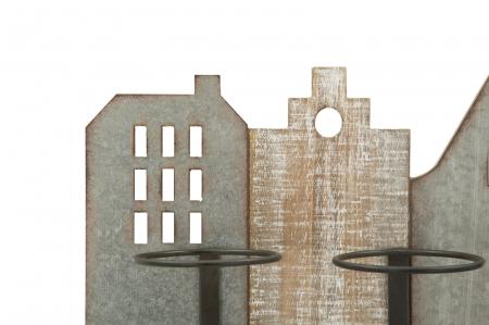 Suport de perete pentru sticle de vin CITY, 60X12X40 cm, Mauro Ferretti3