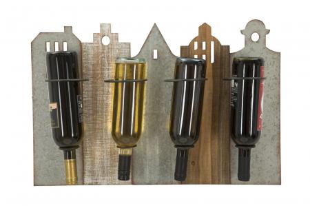 Suport de perete pentru sticle de vin CITY, 60X12X40 cm, Mauro Ferretti4