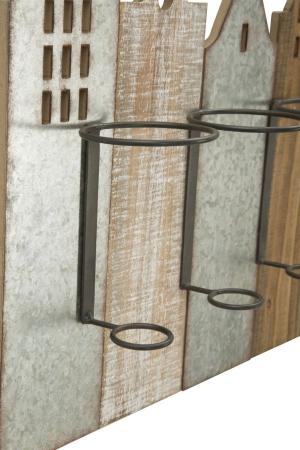 Suport de perete pentru sticle de vin CITY, 60X12X40 cm, Mauro Ferretti7