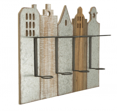 Suport de perete pentru sticle de vin CITY, 60X12X40 cm, Mauro Ferretti1
