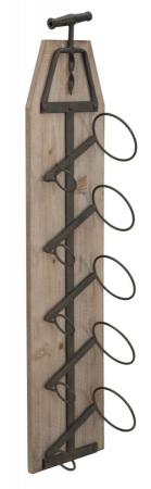Suport de perete pentru sticle de vin CORK, 20X12.5X86 cm, Mauro Ferretti2