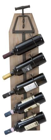 Suport de perete pentru sticle de vin CORK, 20X12.5X86 cm, Mauro Ferretti0