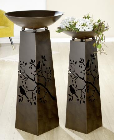 Suport flori BIRD TWIG, metal, 102x50 cm1