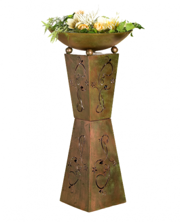 Set 2 suporturi flori Diabolo, metal, 101/98x50 cm1