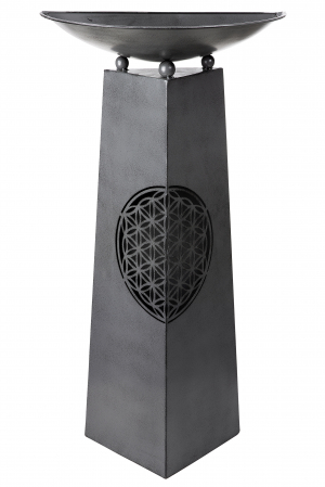 Suport flori Flower, metal, negru, 50x102x25 cm1