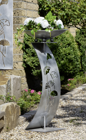 Suport flori GINKGO, metal, 110x50 cm0