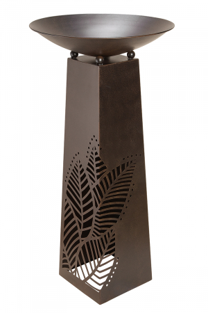 Suport flori Leaves , metal, maro, 117x58 cm0