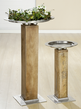 Suport flori ROTONDO, lemn/metal, 70x40 cm1