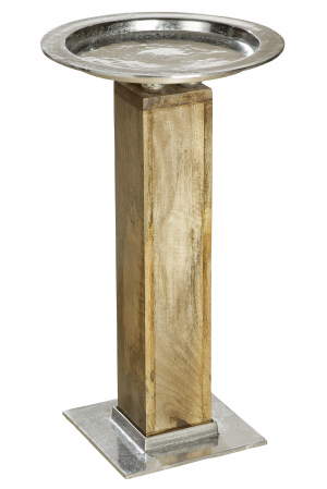 Suport flori ROTONDO, lemn/metal, 70x40 cm0