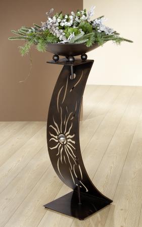 Suport flori SUNNY WAVE, metal, 109x50 cm0