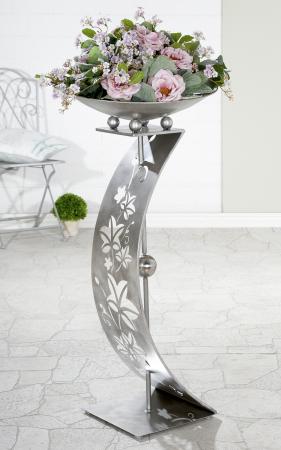 Suport flori Tendrils, metal, argintiu, 110x50 cm1