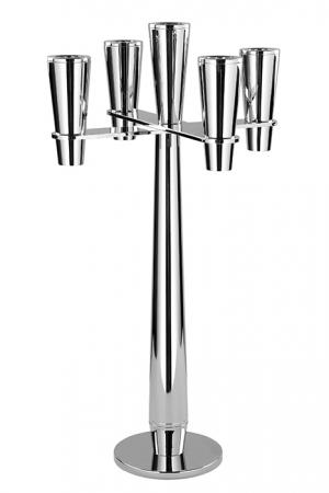 Suport lumanare BANDINI, metal placat cu nichel, 30 x 54 cm [0]