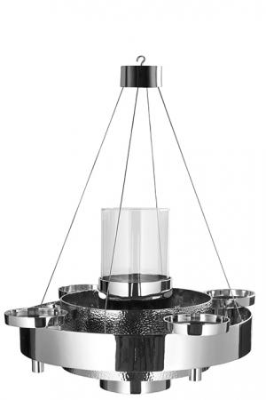 Suport lumanare BELLANI, aluminiu placat cu nichel, diametrul de 51 cm [0]
