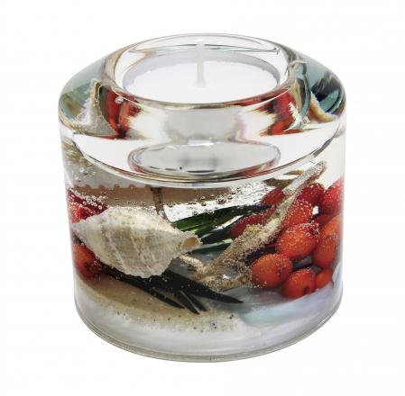 Suport lumanare COAST, sticla, 6.5x7 cm1