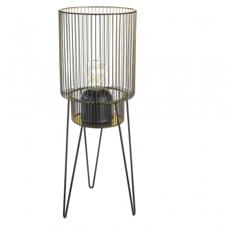 Suport lumanare DIVERSITY, metal/sticla, 53x19 cm0