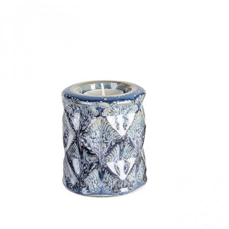 Suport lumanare KARO, ceramica, 9x8 cm0