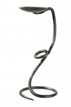 Suport lumanare MONETA, otel forjat, 30x13 cm0