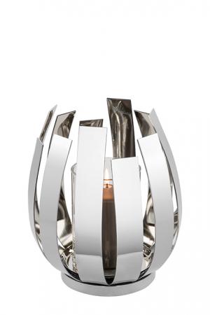 Suport lumanare ORFEA, metal/sticla, 18.5 x 20 cm, Fink [0]