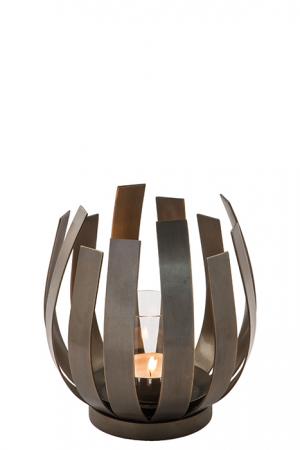 Suport lumanare ORFEA, metal/sticla, 20 x 18.5 cm, Fink [0]