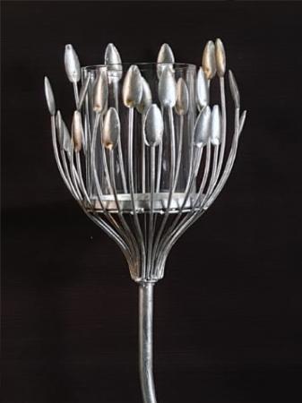 Suport lumanare TREVI, metal antichizat, 93x18  cm1