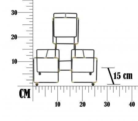 Suport pentru 3 sticle BRIGHT (cm) 25X15X27 7