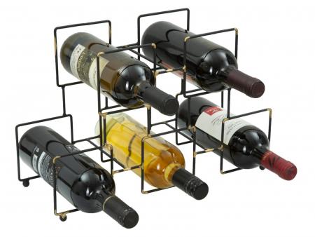 Suport pentru 5 sticle, 0X15X26.5 cm, Mauro Ferretti3