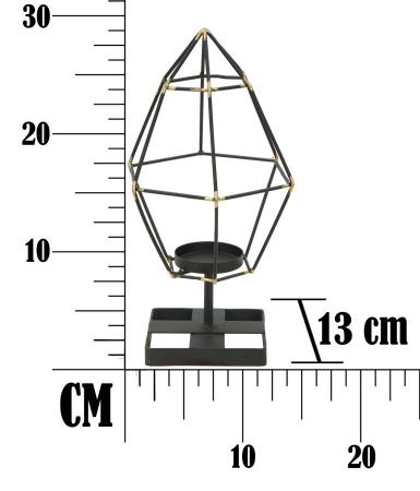 Suport pentru lumanare BRIGHT PIRAMID (cm) 15X13X297