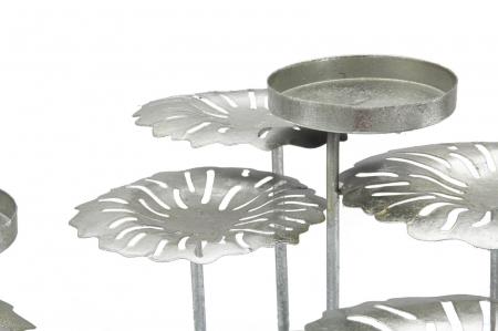 Suport pentru lumanare ROUND-PLUS, argintiu,  (cm) 37,5X37,5X171