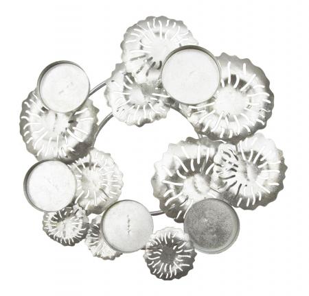 Suport pentru lumanare ROUND-PLUS, argintiu,  (cm) 37,5X37,5X172