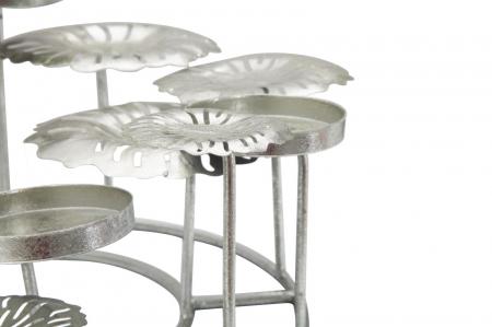 Suport pentru lumanare ROUND-PLUS, argintiu,  (cm) 37,5X37,5X173