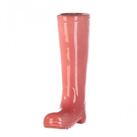 Suport umbrela BOOT, ceramica, roz, 45x26x11 cm4