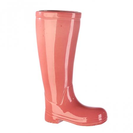 Suport umbrela BOOT, ceramica, roz, 45x26x11 cm1