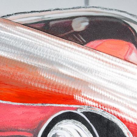 Tablou 3D CLASSIC CAR, panza/aluminiu, 180x80x4 cm [1]