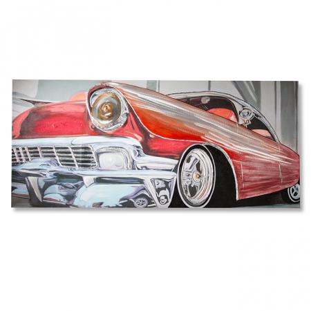 Tablou 3D CLASSIC CAR, panza/aluminiu, 180x80x4 cm [0]