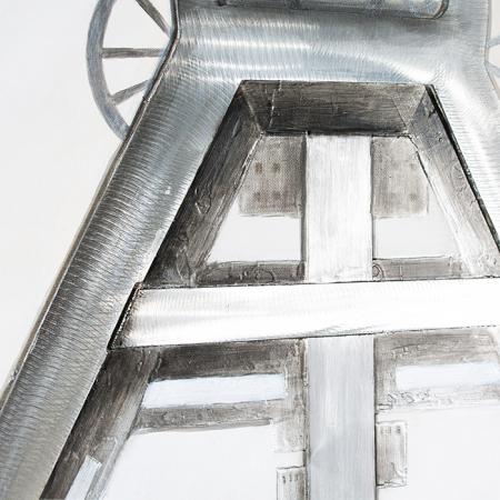 Tablou 3D COAL MINE, panza/aluminiu, 100x80x4 cm4