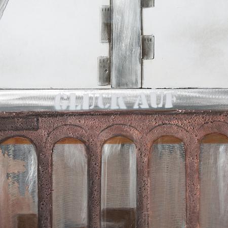 Tablou 3D COAL MINE, panza/aluminiu, 100x80x4 cm1