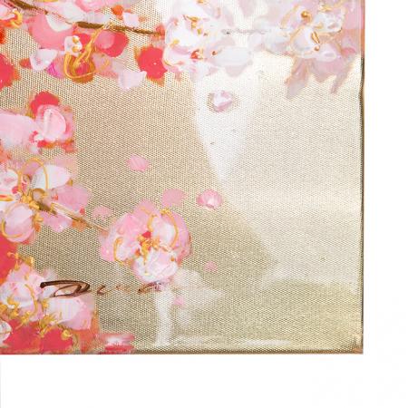 Tablou CHERRY TREE, panza, 140x70x3.5 cm3