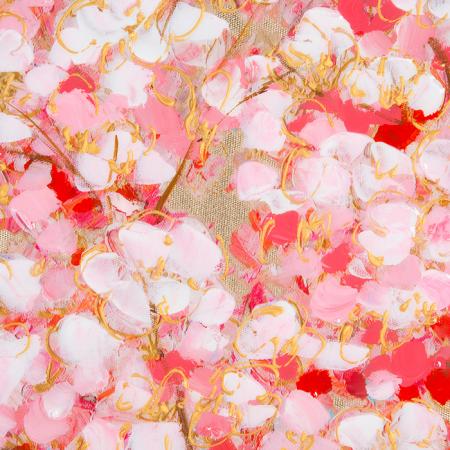 Tablou CHERRY TREE, panza, 140x70x3.5 cm1