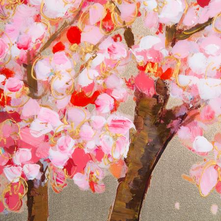 Tablou CHERRY TREE, panza, 140x70x3.5 cm2