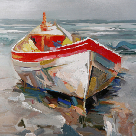 Tablou HOLIDAY BEACH, panza, 120x90x4 cm1