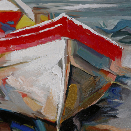 Tablou HOLIDAY BEACH, panza, 120x90x4 cm3
