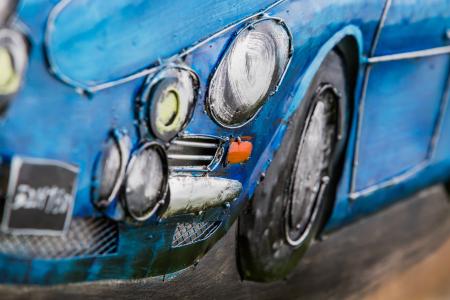 Tablou metal 3D Blue sportcar 80 x 602