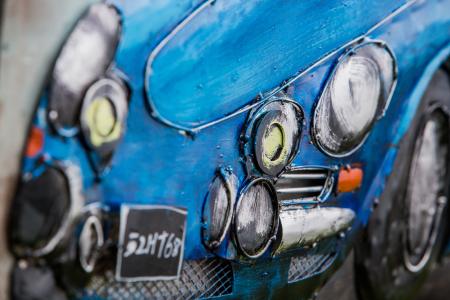 Tablou metal 3D Blue sportcar 80 x 601