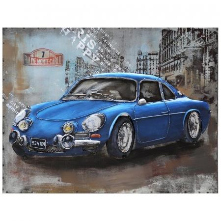 Tablou metal 3D Blue sportcar 80 x 600