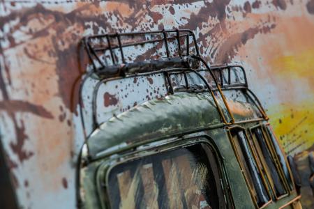 Tablou metal 3D Green Van 80 x 1204