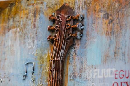 Tablou metal 3D Guitar 60x90 cm2