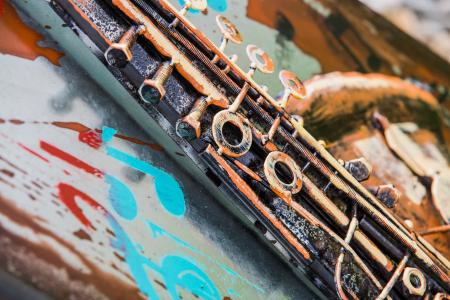 Tablou metal 3D Saxophone 40 x 802